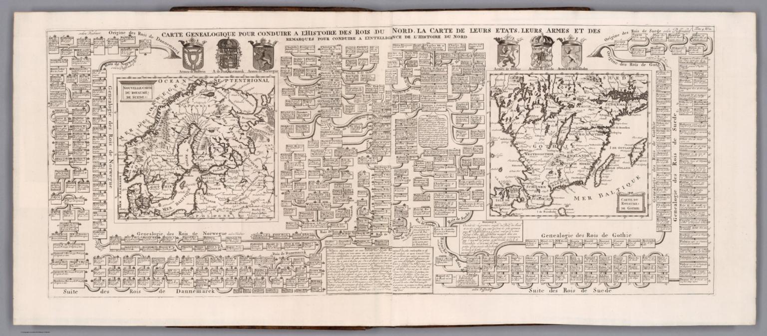 Tome 4. No. 2. Carte genealogique pour conduire a lhistoire des rois du nord