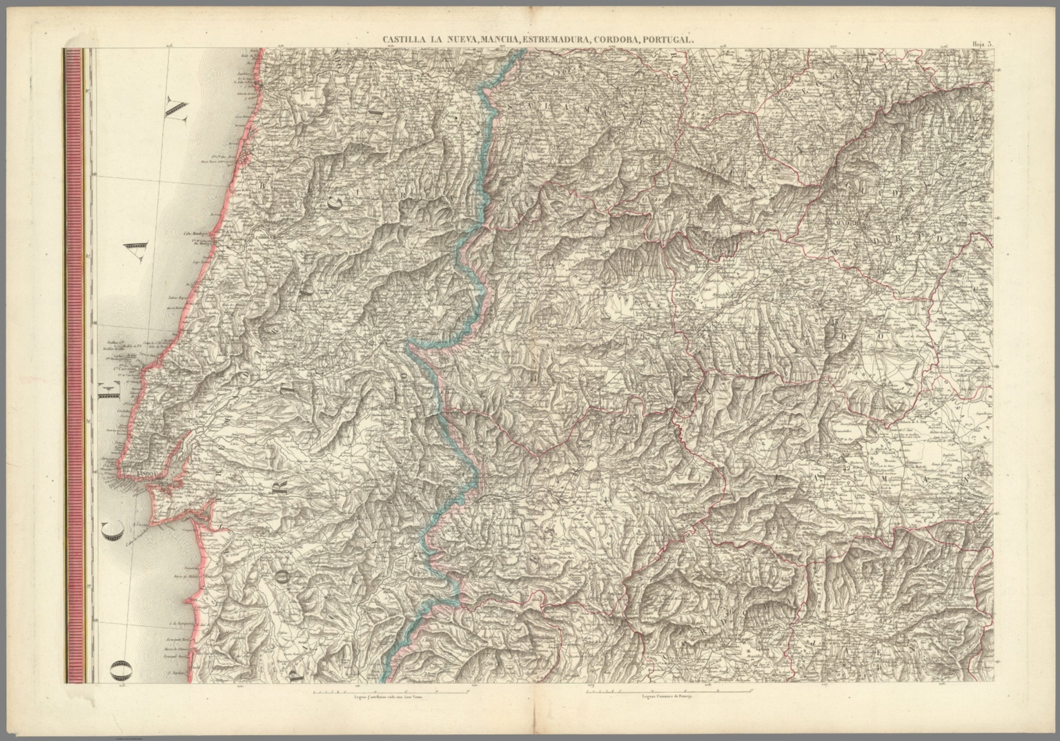 Hoja 3.Castilla la Nueva, Mancha, Estremadura, Cordoba, Portigal