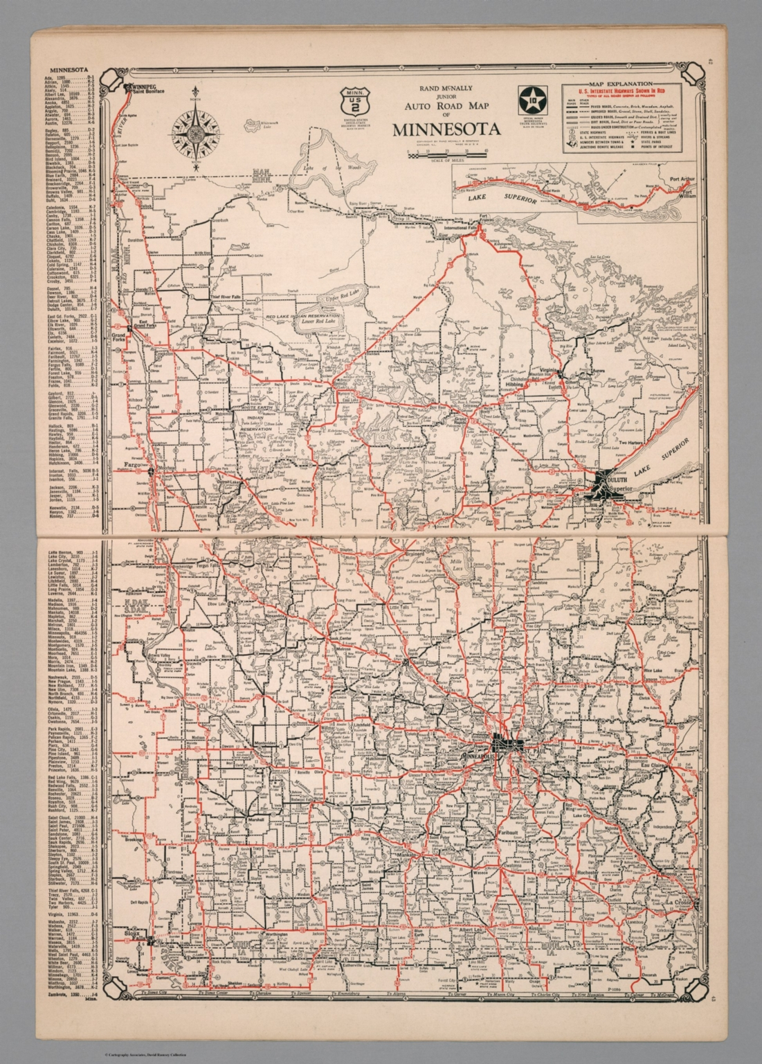Junior Auto Road Map of Minnesota - David Rumsey Historical ...