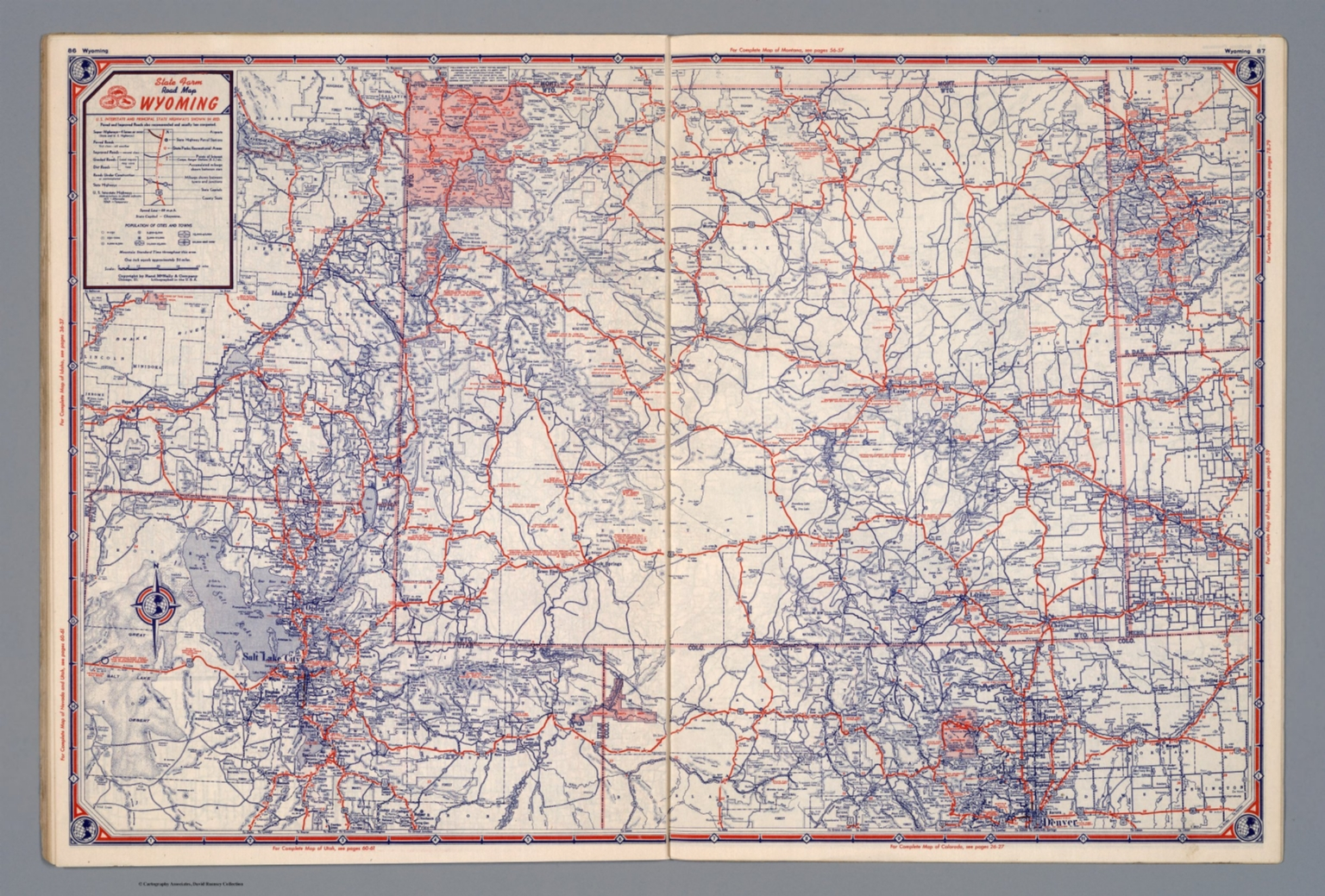 State Farm Road map: Wyoming - David Rumsey Historical Map ...