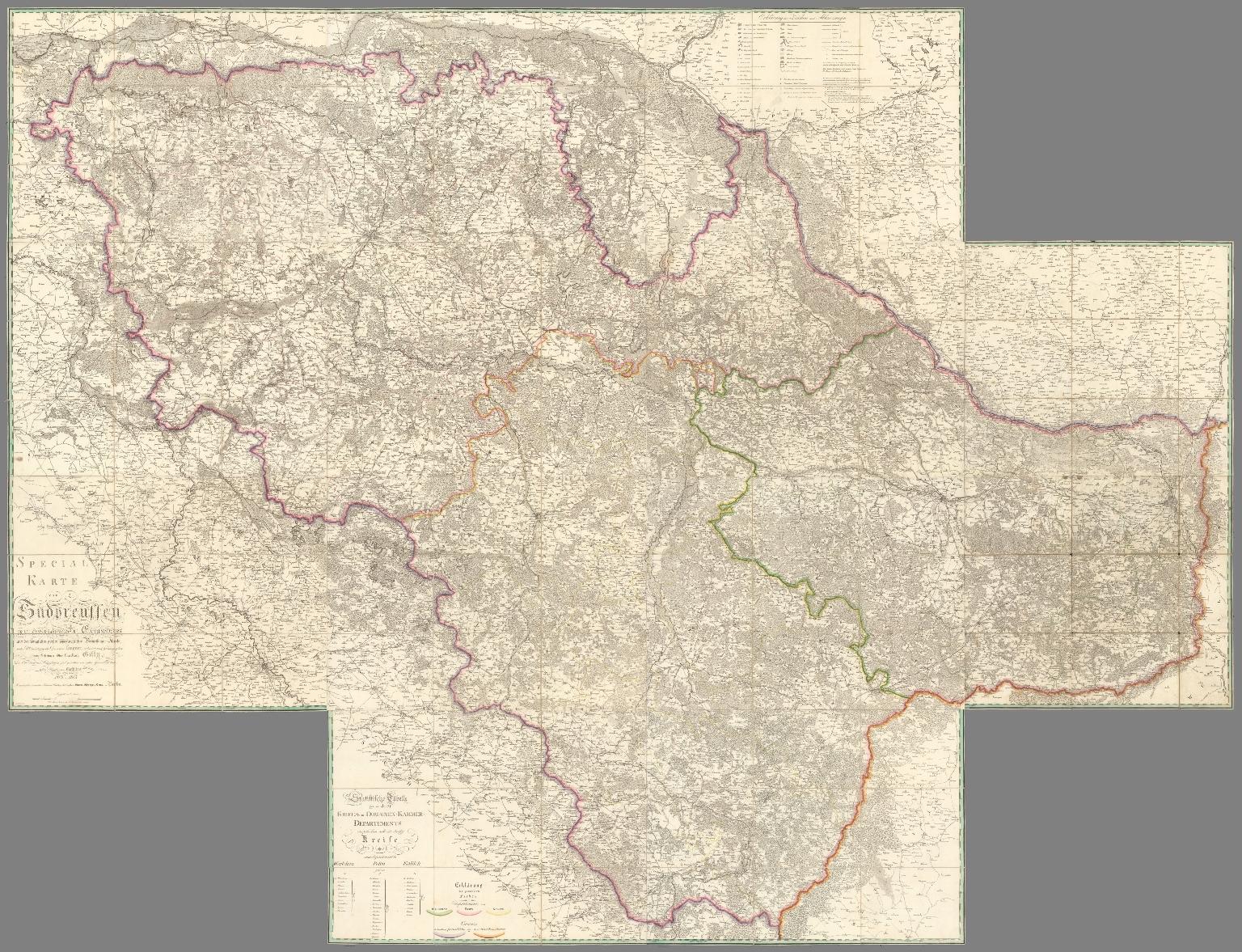 Composite map: Special Karte von Suedpreussen