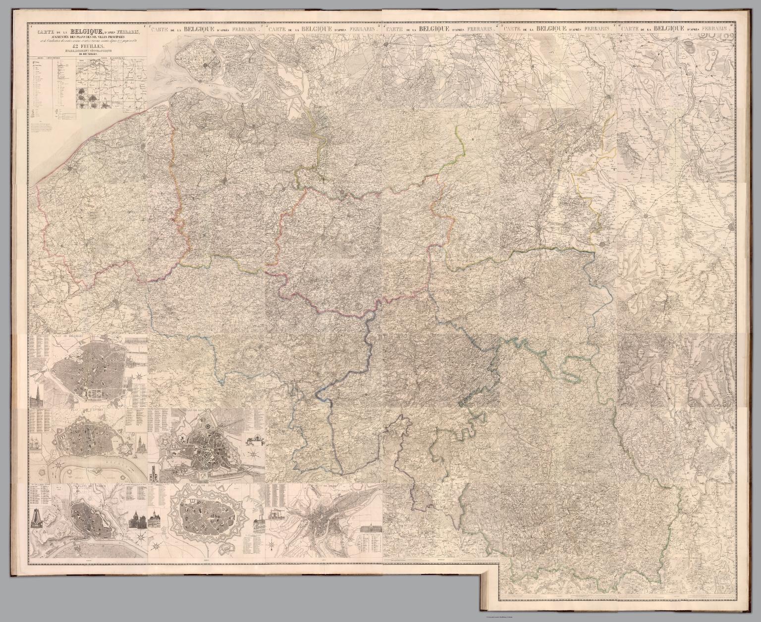 Composite Map: Carte de la Belgique, d'apres Ferraris. 1-43