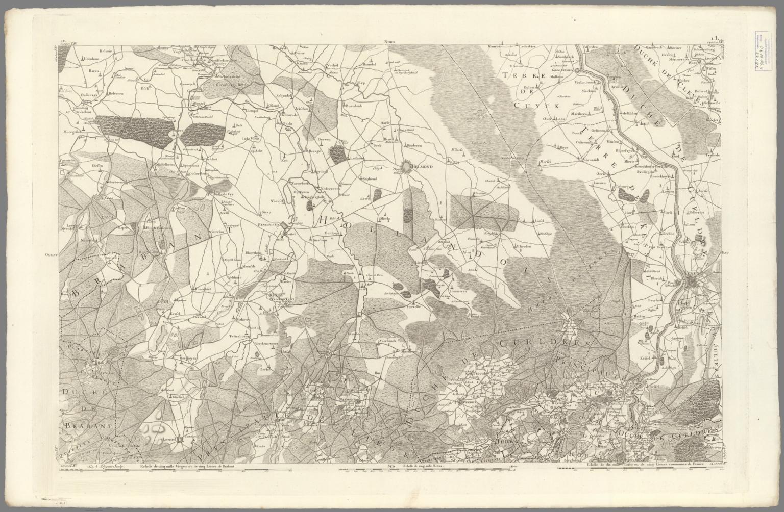No. 4. Carte chorographique des Pays-bas autrichiens